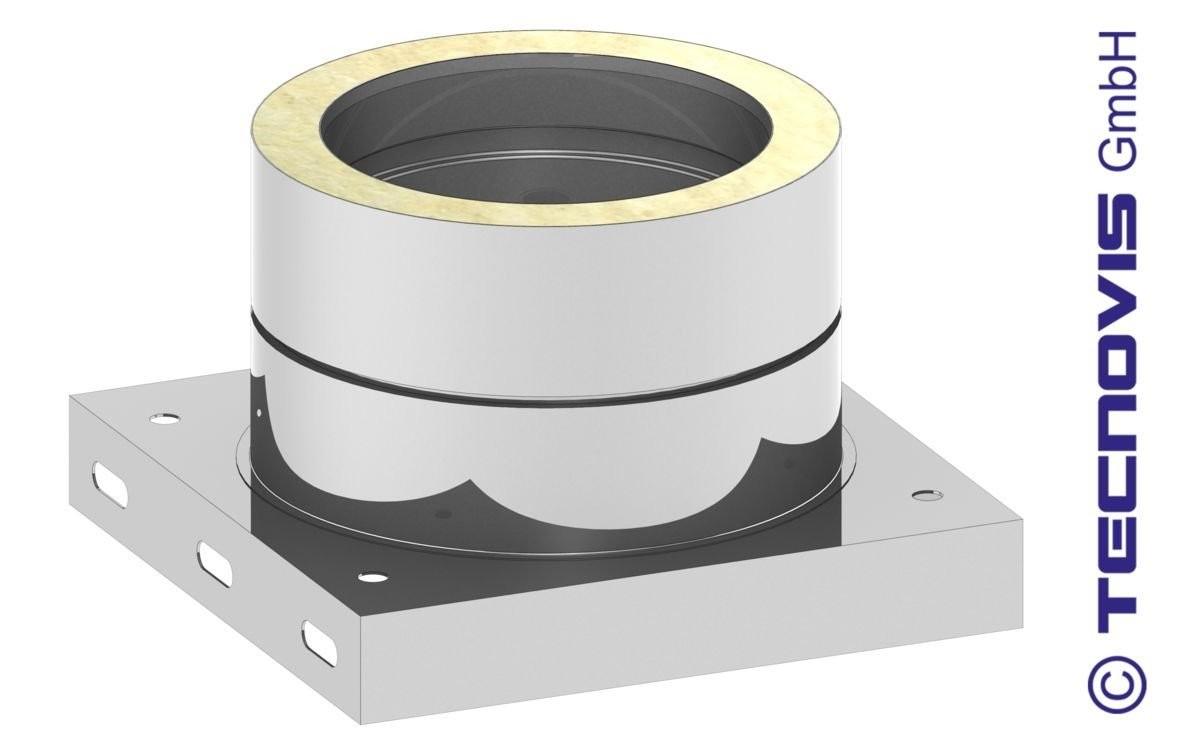 Grundplatte mit Kondensatablauf UNTEN