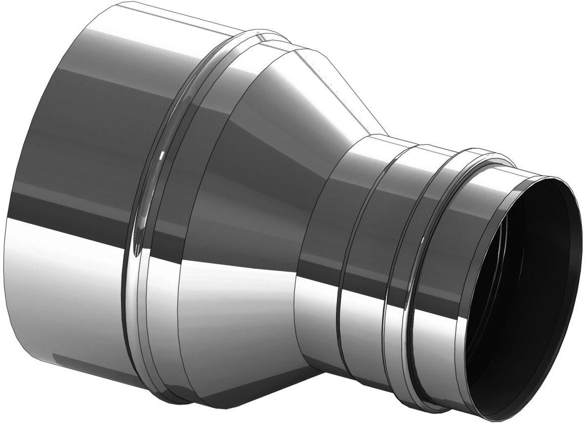 Erweiterung Edelstahl 150 auf 180 mm