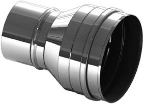Erweiterung Edelstahl 180 auf 200 mm