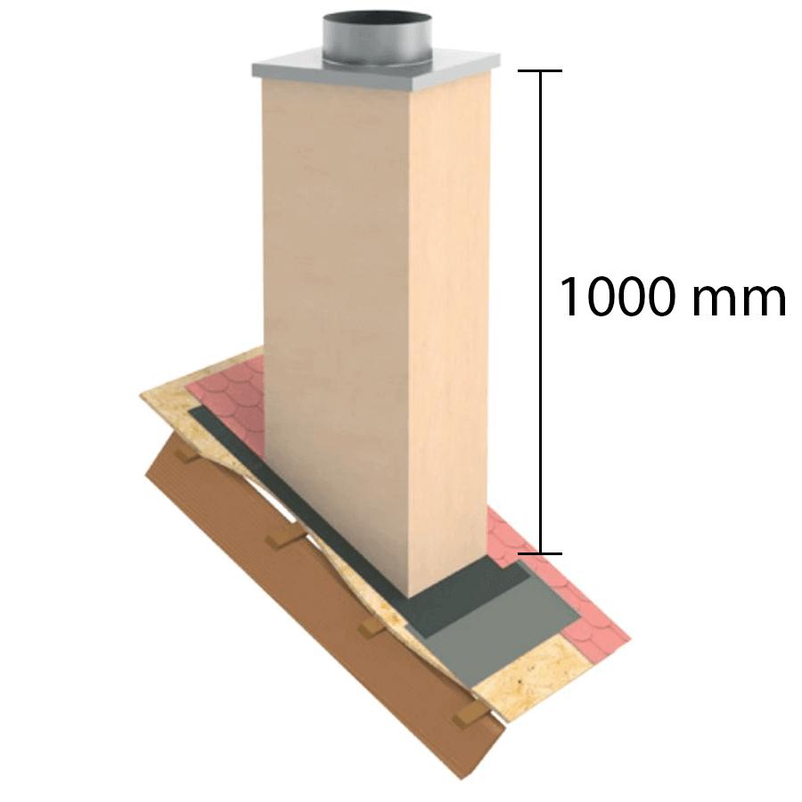 """Kaminverkleidung Stülpkopf Furado L=1000 mm """"Putzoptik"""" -  Furado F"""