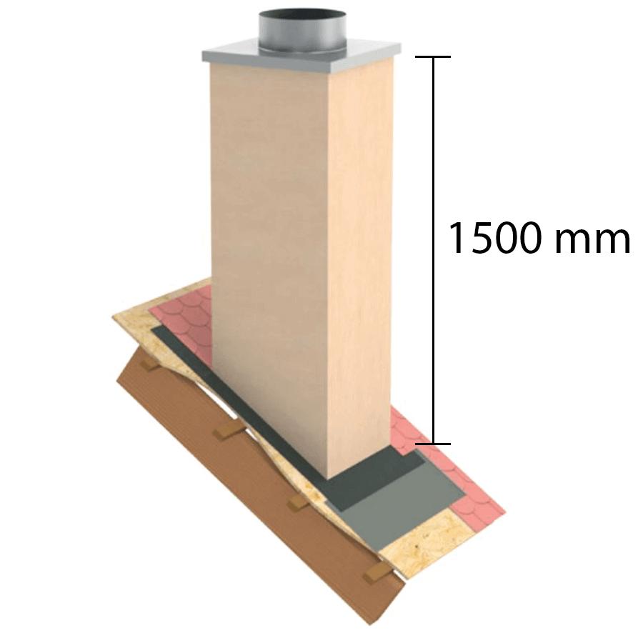 """Kaminverkleidung Stülpkopf Furado L=1500 mm """"Putzoptik"""" -  Furado F"""