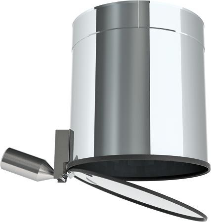 Auswurfrohr mit selbstschlie- ßendem Verschlussdeckel, Länge 323 mm