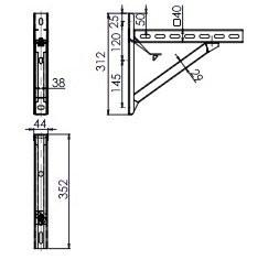 Wandkonsole TYP1 (Paar) Abstand bis 14 cm