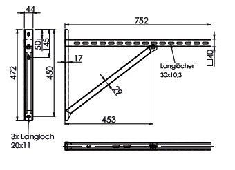 Wandkonsole TYP3 (Paar) Abstand bis 55.5 cm