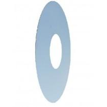Wandrosette einteilig, Rand 22 cm (bei Dämmputz)